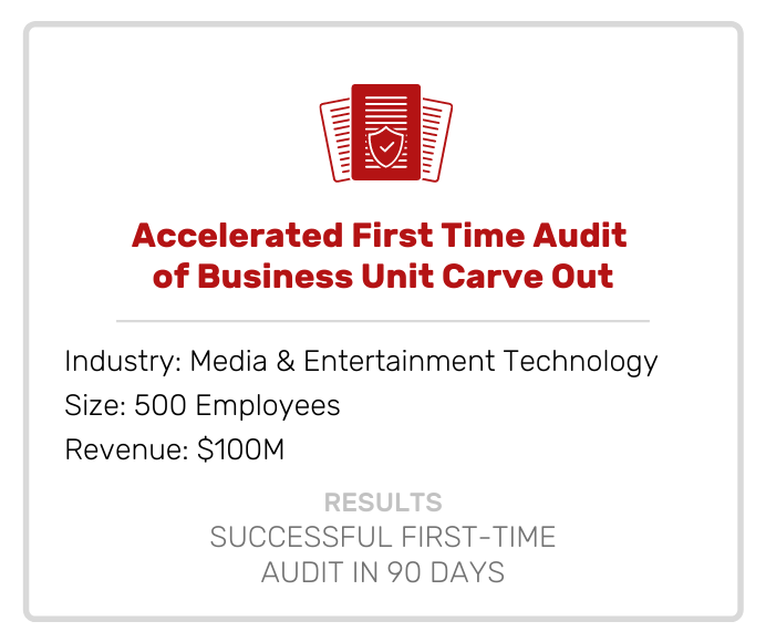 Accounting | Accelerated First Time Audit of Business Unit Carve Out