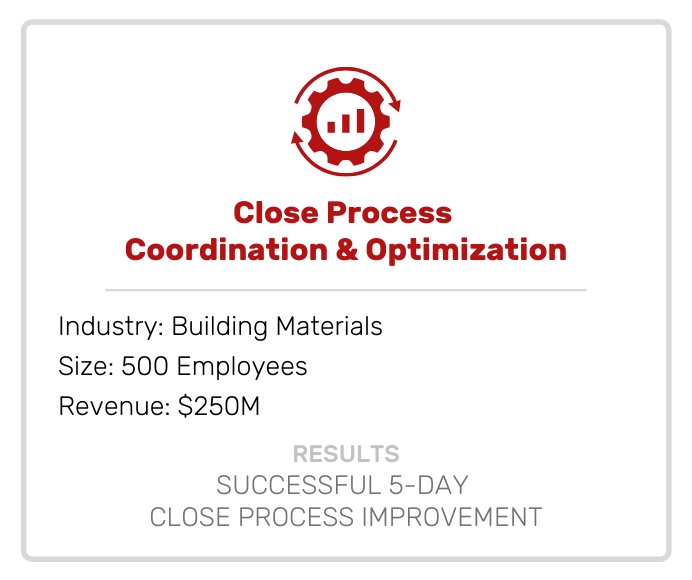 Accounting | Close Process Coordination & Optimization
