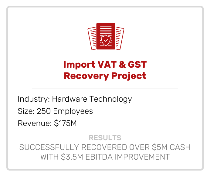 Accounting | Import VAT & GST Recovery