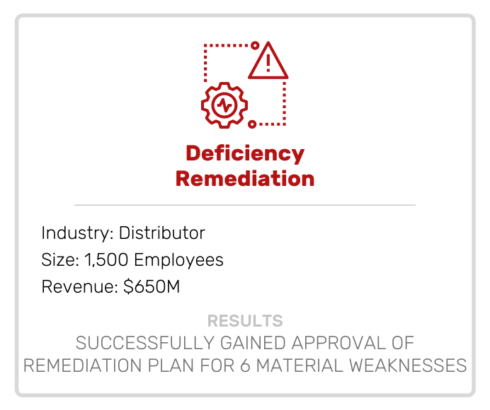 Deficiency Remediation Case Study