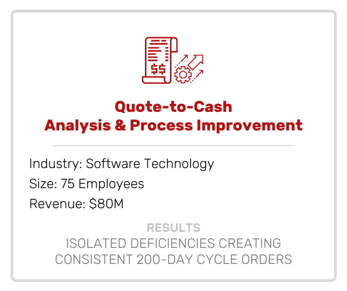 Accounting | Quote to Cash Analysis & Process Improvement