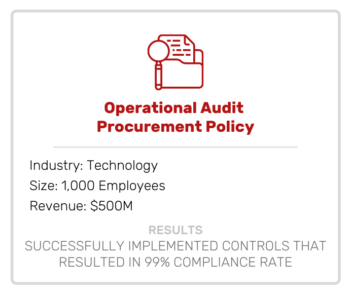 Risk | Operational Audit Procurement Policy