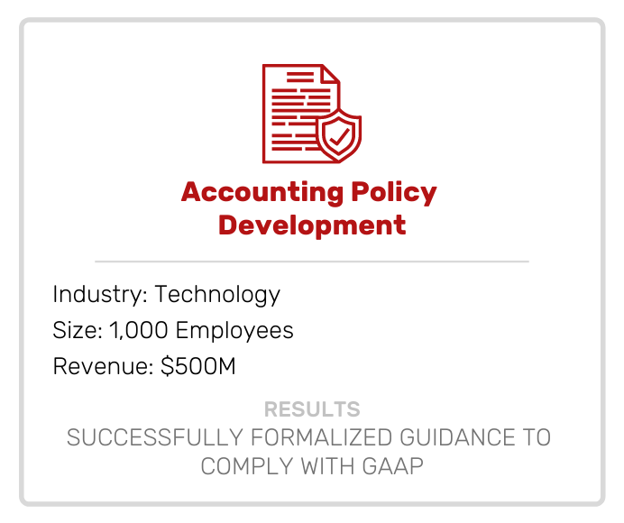 Risk | Accounting Policy Development