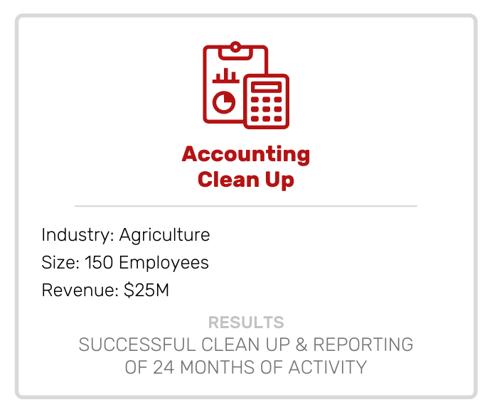 Accounting Clean Up