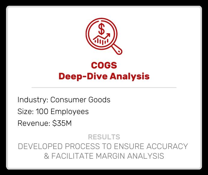 COGS Deep Dive Analysis