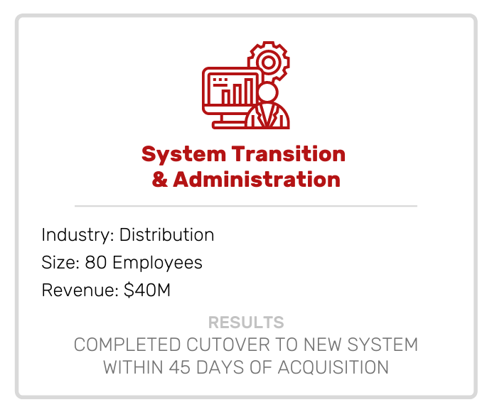 System Transition & Administration