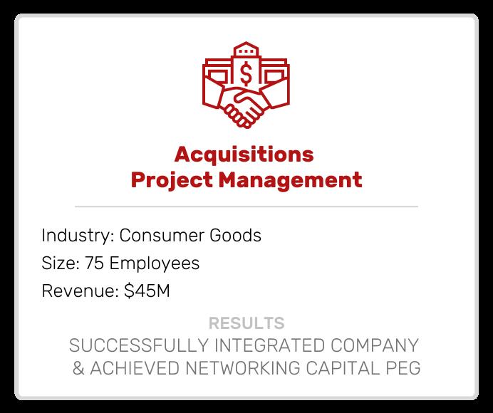 Acquisitions Project Management