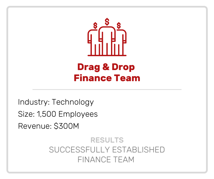 Drag and Drop Finance Team