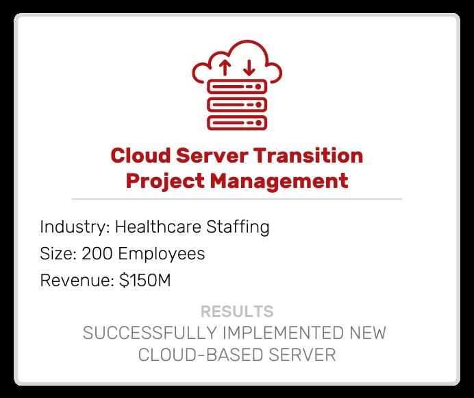 Cloud Server Transition Project Management