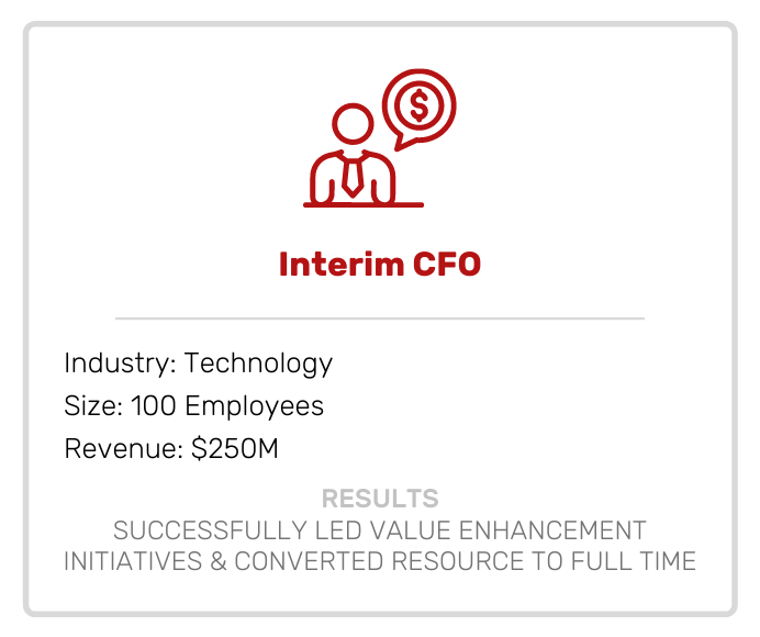 Interim CFO Case Study