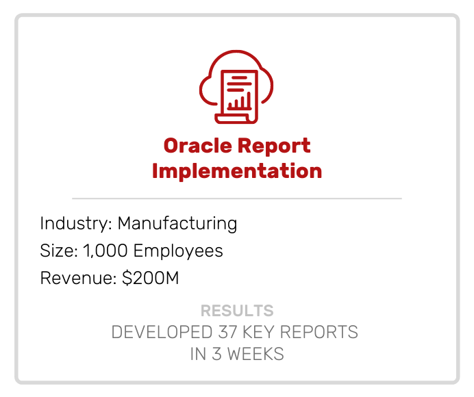 Oracle Report Implementation