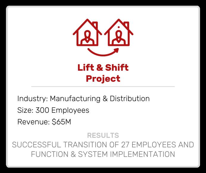 65M Lift and Shift