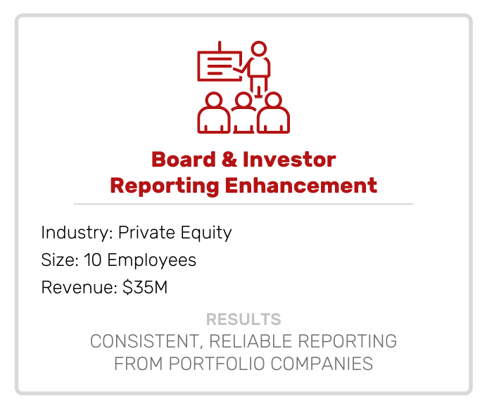 Board and Investor Reporting Enhancement