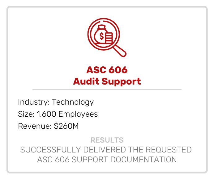 ASC 606 Audit Support