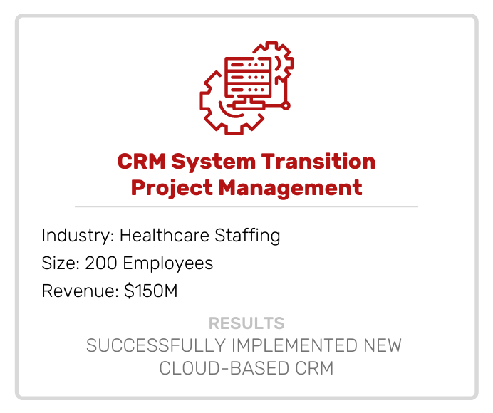 CRM System Transition Project Management Case Study
