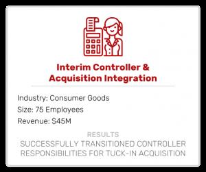 Interim Controller & Acquisition Integration